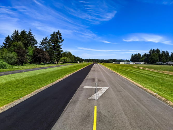 Airport Runway Slurry Seal Project