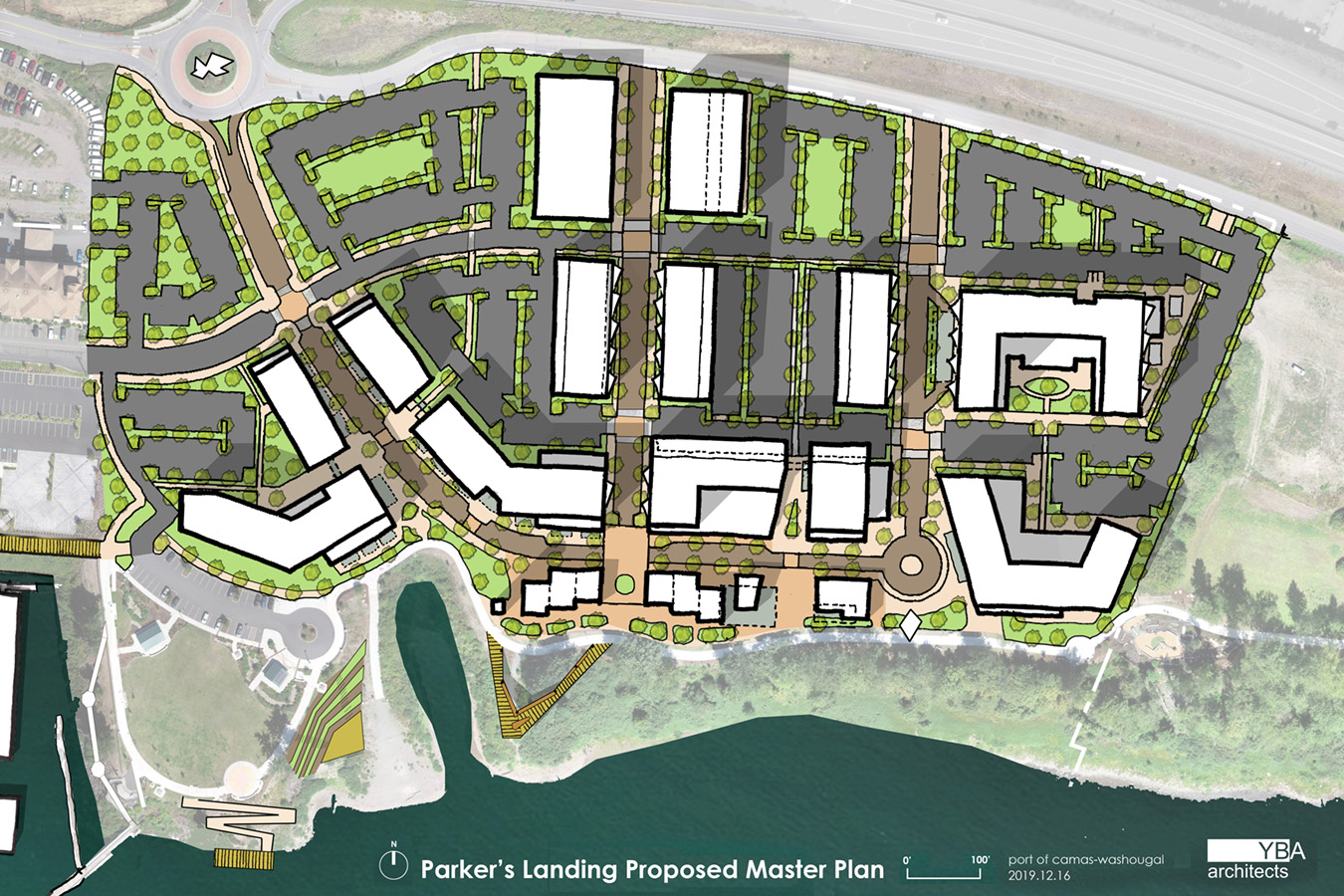 Parker's Waterfront Masterplan - Final Layout